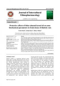Protective effects of bitter almond kernel oil on some
