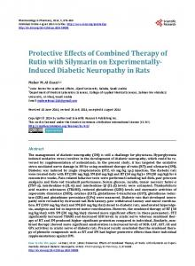 Protective Effects of Combined Therapy of Rutin with Silymarin on ...