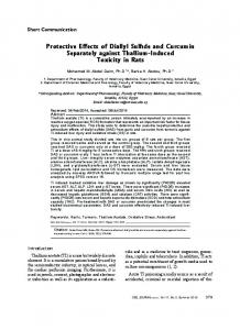 Protective Effects of Diallyl Sulfide and Curcumin ... - Semantic Scholar