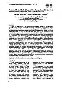 Protective Effects of Garlic Oil against Liver Damage Induced by ...