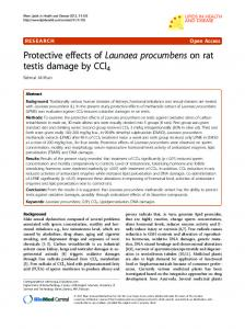 Protective effects of Launaea procumbens on rat testis ... - Springer Link