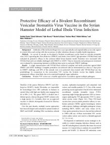 Protective Efficacy of a Bivalent Recombinant Vesicular Stomatitis ...