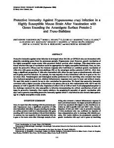 Protective Immunity Against Trypanosoma cruzi Infection in a Highly ...