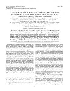 Protective Immunity in Macaques Vaccinated with ... - Journal of Virology