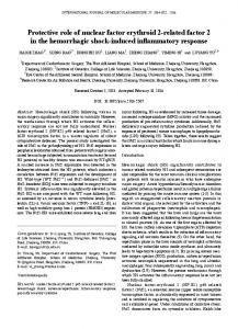 Protective role of nuclear factor erythroid 2-related ... - Semantic Scholar