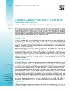 Protective Surgical Procedures for Carotid Body Tumors: A Case Series
