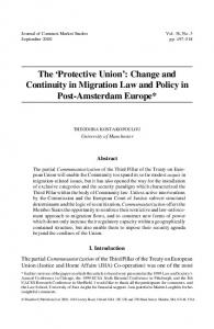 'Protective Union': Change and Continuity in Migration Law and Policy ...