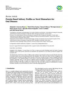 Protein-Based Salivary Profiles as Novel Biomarkers for Oral Diseases
