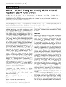 Protein C inhibitor directly and potently inhibits ... - Wiley Online Library