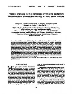Protein changes in the nematode symbiotic ...