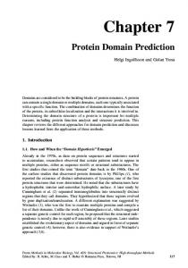 Protein Domain Prediction - Springer