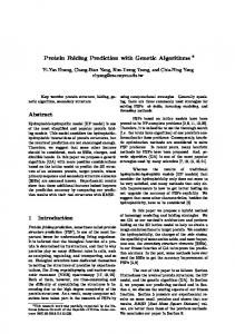 Protein Folding Prediction with Genetic Algorithms Abstract 1 ...