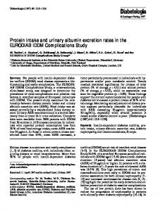 Protein intake and urinary albumin excretion rates in ... - Springer Link