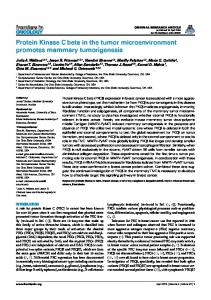 Protein Kinase C beta in the tumor microenvironment ... - Frontiers