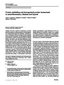 Protein misfolding and dysregulated protein