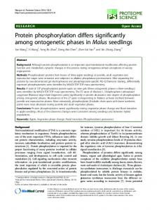 Protein phosphorylation differs significantly among ontogenetic ...