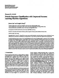 Protein Sequence Classification with Improved Extreme Learning