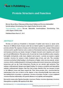 Protein Structure and Function - Austin Publishing Group