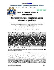 Protein Structure Prediction using Genetic Algorithm - International ...