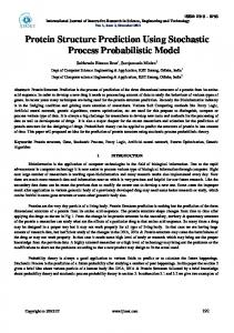 Protein Structure Prediction Using Stochastic Process ... - IJIRSET
