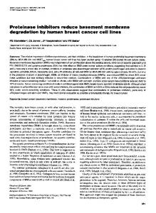Proteinase inhibitors reduce basement membrane - BioMedSearch
