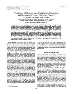 Proteinases of Proteus spp.: Purification ... - Infection and Immunity