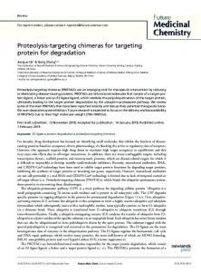 Proteolysis-targeting chimeras for targeting protein for