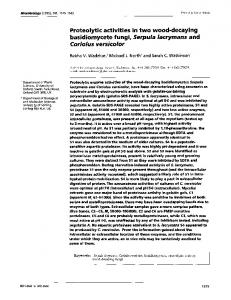 Proteolytic activities in two wood-decaying basidiomycete ... - CiteSeerX