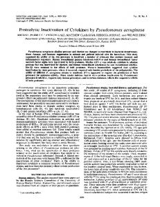 Proteolytic Inactivation of Cytokines by Pseudomonas aeruginosa