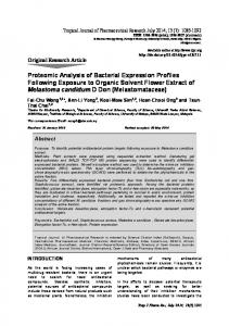 Proteomic Analysis of Bacterial Expression ... - Bioline International