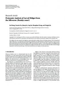 Proteomic Analysis of Larval Midgut from the Silkworm (Bombyx mori)