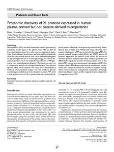 Proteomic discovery of 21 proteins expressed in ... - Semantic Scholar