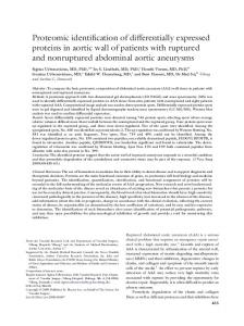 Proteomic identification of differentially expressed proteins in aortic ...