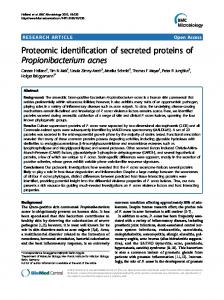 Proteomic identification of secreted proteins of ... - CiteSeerX