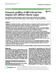 Proteomic profiling of HBV infected liver biopsies with different fibrotic ...