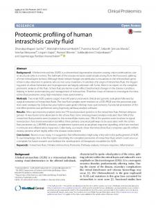 Proteomic profiling of human intraschisis cavity ... - Clinical Proteomics
