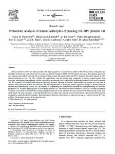 Proteomics analysis of human astrocytes ... - Semantic Scholar