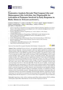 Proteomics Analysis Reveals That Caspase-Like and