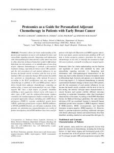 Proteomics as a Guide for Personalized Adjuvant Chemotherapy in ...