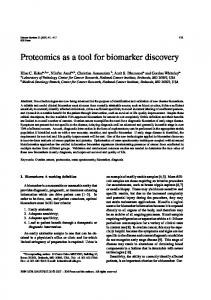 Proteomics as a tool for biomarker discovery - IOS Press