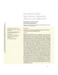 Proteomics by Mass Spectrometry: Approaches ... - IMBB-FORTH in
