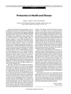 Proteomics in Health and Disease