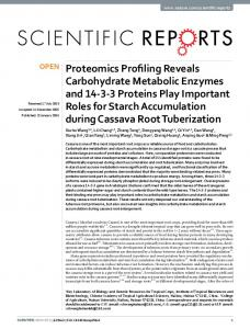 Proteomics Profiling Reveals Carbohydrate ... - Semantic Scholar