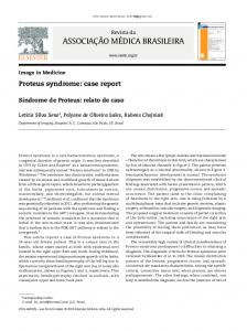 Proteus syndrome: case report
