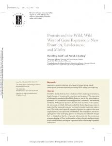 Protists and the Wild, Wild West of Gene Expression - Western University