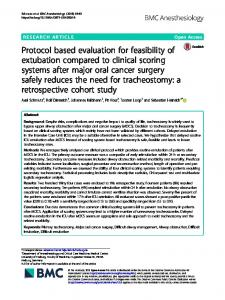 Protocol based evaluation for feasibility of ... - BMC Anesthesiology