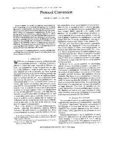 Protocol conversion - Software Engineering, IEEE Transactions on