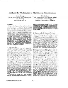 Protocol for collaborative multimedia presentations - CiteSeerX
