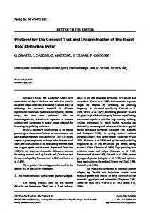 Protocol for the Conconi Test and Determination of ... - Semantic Scholar