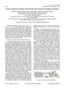 Proton Conductivity of Graphene Oxide Hybrids with ... - CSJ Journals